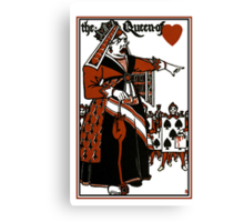 Alice In Wonderland; A Play. Queen of Hearts Canvas Print