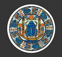 Resurrection Mandala - Full-Color Card, Grey by TheMandalaLady
