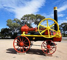 Steam Traction Engine, Paringa, South Australia 2011 by muz2142