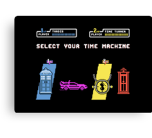 Select Your Time Machine V2 Canvas Print