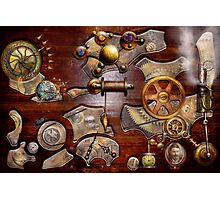 Steampunk - Gears - Reverse engineering Photographic Print