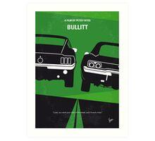 No214 My BULLITT minimal movie poster Art Print
