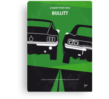 No214 My BULLITT minimal movie poster Canvas Print