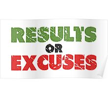 Results or Excuses | Fitness Slogan | Retro Poster