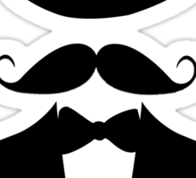 Distinguished Gentleman Moustache T-shirt Sticker