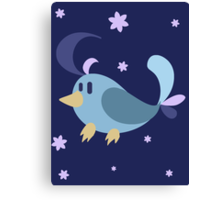 Cowlick Blue Bird Canvas Print