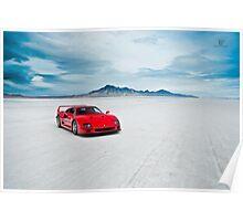 Ferrari F40 | Isolation Poster