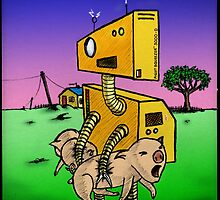 Robot Pig Squeezer by Kingsley Ravenscroft