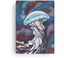 Bold Nettle Jellyfish Canvas Print