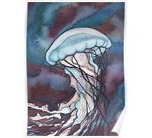 Bold Nettle Jellyfish Poster