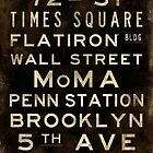 "New York ""Lexington"" V1 Distressed subway sign art by Subwaysign"