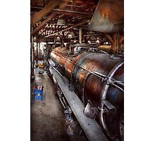 Locomotive - Routine maintenance  Photographic Print