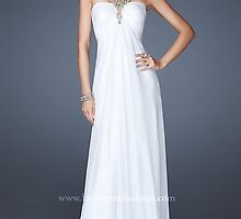 Long White Sweetheart Halter Gown,LF-19135 Evening Dresses by jasminewhitelol