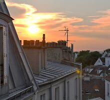 Rooftops at dusk - Paris, France by CongressTart