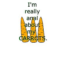 Silly Carrot Art Photographic Print