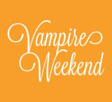 Vampire Weekend Cursive on Dark by Montia Garcia