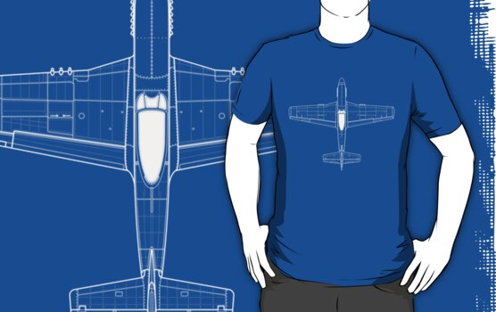North American P-51D Mustang Blueprint by zoidberg69