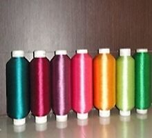 Dyed Embroidery Thread by nishajoshi123