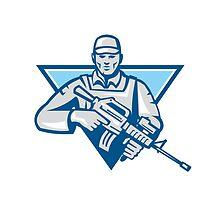 American Soldier Assault Rifle Retro by patrimonio