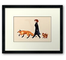 Fox & Dana Framed Print
