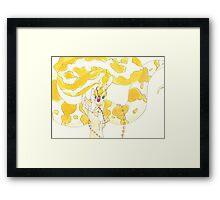 Albino Python Framed Print