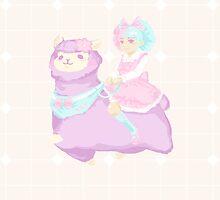 Sweet Lolita Alpaca Rider by ravefirell