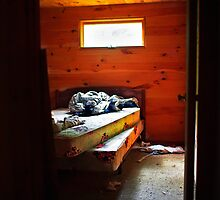 Old Abandoned Cabin Bedroom by Nazareth