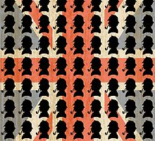 Sherlock Holmes (with vintage union jack flag background) by AuberginePurple