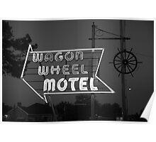 Route 66 - Wagon Wheel Motel Poster