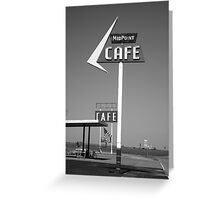 Route 66 - MidPoint Cafe Greeting Card