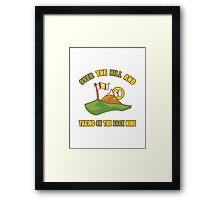 Funny 60th Birthday Golf Gift Framed Print