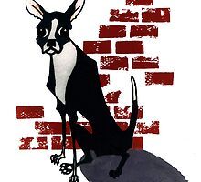 Boston Terrier Illustration Print by OvergrownAsylum