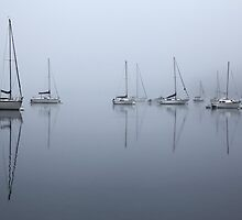 Morning Mists over Windermere by Martin Lawrence