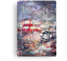 Red Bus and Black Cab - London City Art Gallery Canvas Print