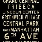 "New York ""SOHO"" V4 Distressed subway sign art by Subwaysign"