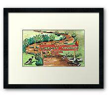 The Garden Stakes Framed Print