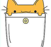 Pocket Cat - Orange by ZoeTwoDots