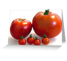 Happy Tomato Family Greeting Card