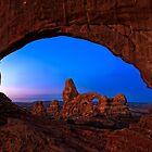 Turret Arch thru North Window by Dick Paige