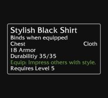 Stylish Black Shirt by DPSmachine