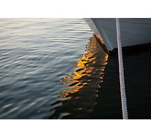 Reflecting on Boats and Sunsets Photographic Print
