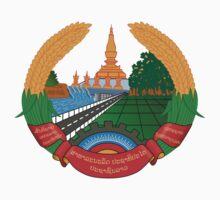 Laos National Emblem Kids Clothes