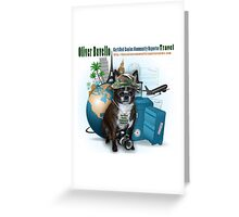 Meet Oliver Bovello, Canine Community Reporter Greeting Card