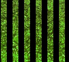 Stripes (Parallel Lines), Glitter - Green Black by sitnica