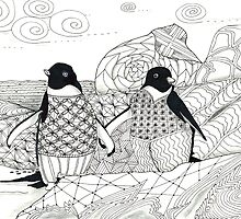 Two Penguins in wait. by collectincat