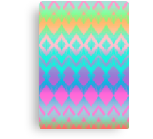 Rainbow Ikat Pattern Canvas Print