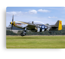 "TF-51D 44-84847 N251RJ ""Miss Velma"" Canvas Print"