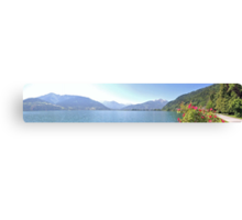 Zell Am See Lake: Panoramic Canvas Print