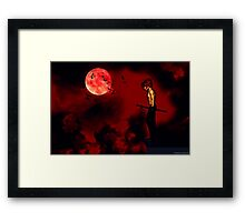 Bam Bam on the Edge Framed Print