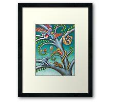 Tree o Life triptych - panel 2 Framed Print